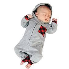 <b>Newborn</b> Long Sleeve <b>Autumn</b> Winter <b>Romper Baby Boy</b> Girl Plaid ...