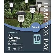 hampton bay solar powered black led