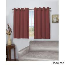 ricardo tacoma latte double blackout short length grommet curtain panel 50 inch wide x 54 inch long fl rose red size 54 inches polyester solid