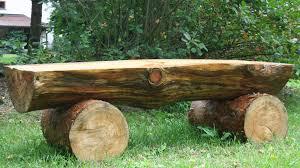 Tree Stump Seats Creating Massive Log Bench Logs Pine And Backyard