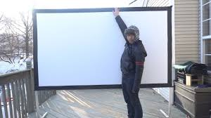 100 inch foldable indoor outdoor projector screen review