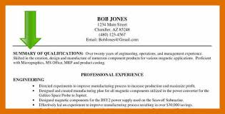 5 6 Summary For Resume Sowtemplate