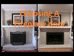 when choosing a fireplace door