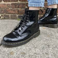 Doc Martens Made In England Size Uk7 Us8 Airwair Womens Combat Boots Black Punk