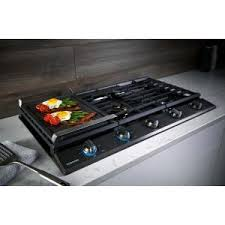 black stainless gas cooktop. Fine Black Store SO SKU 1003521890 14 Samsung 36 In Gas Cooktop In Fingerprint  Resistant Black Stainless  With U