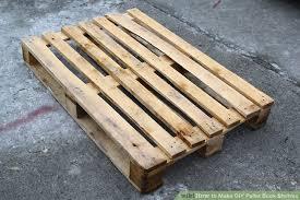 image titled make diy pallet book shelves step 1