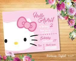 Hello Kitty Invitation Kitty Invitation Digital Hello Kitty Personalized Invitation