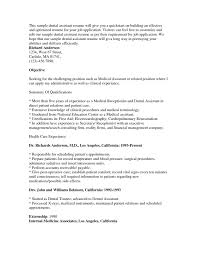 Medical Assistant Resume Objectives Medical Assistant Resume Objective Cover Letter 43