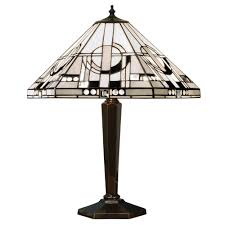 art deco lamp. METROPOLITAN Tiffany Table Lamp Art Deco Style O