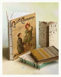 handmade books with old book covers