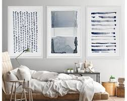 large wall art navy blue gray abstract art set of 3 paintings large abstract painting minimalist print navy blue art print indigo art on cheap huge wall art with large wall art etsy