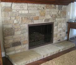 stacked stone fireplace edmonton
