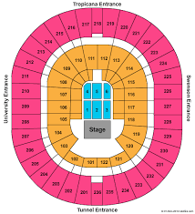 Thomas Mack Arena Seating Chart Nfr Thomas And Mack Center Seating Psnworld