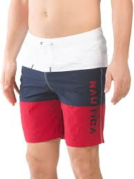 Nautica Swim Trunks Size Chart Details About Nautica Authentic Color Block Beach Surf Mens Red Board Shorts Size Xl