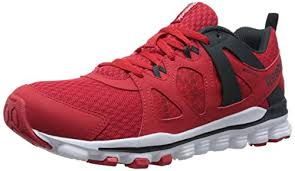 reebok running shoes red and black. reebok men\u0027s hexaffect run 2.0 mt running shoe, red rush/white/gravel/ shoes and black l