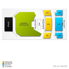Joy Theater New Orleans Seating Chart The Joy Theater 2019 Seating Chart