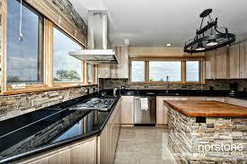 Kitchen With Stone Backsplash How To Install A Kitchen Backsplash