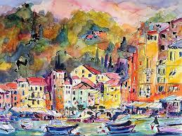 paintings of portofino sketching travel europe art