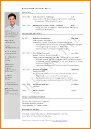9 Format Of Cv Resume Actor Resumed