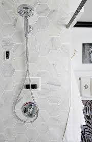 carrara marble hexagon tile for the shower