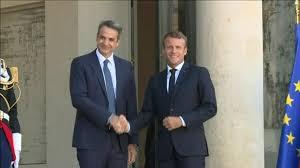 Macron ve Miçotakis Fransa'da görüştü