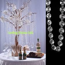 homey idea crystal garland for tree 15 ft hanging strands glass garlands