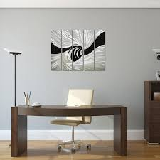 abstract metal wall art. Silver Worm Hole Abstract Metal Wall Art Decor - Black And Hanging Sculpture Of 5