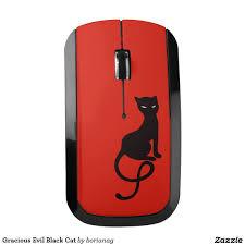 Wireless Mouse Cat Design Gracious Evil Black Cat Wireless Mouse Zazzle Com In 2019