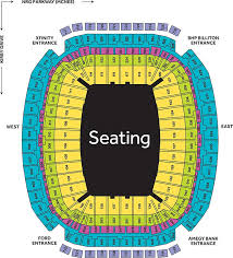 Houston Rodeo Seating Chart 2017 Nrg Stadium Nrg Park