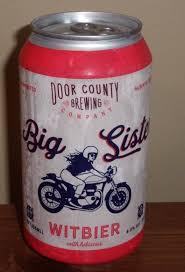 DOOR COUNTY BREWING Big Sister Witbier Micro Beer Can B/O - $1.25 ...