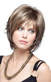 short voluminous neat highlights layered bob hairstyles 6