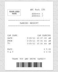 receipt blank blank parking receipt