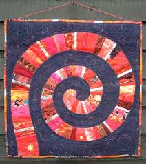 Helen Howes Textiles - Classes - Spiral Quilt & Red Spiral Quilt Adamdwight.com