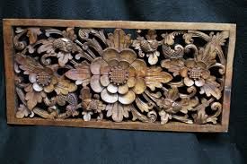 indonesian wood wall art