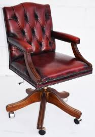 red leather office chair. Vintage Ox Blood Red Leather Desk Chair Office