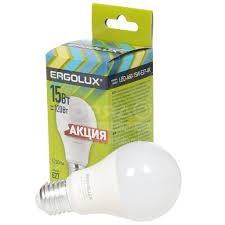 <b>Лампа светодиодная Ergolux Груша</b> 13638, 15 Вт, Е27, холодный ...