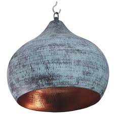round copper lamp with a vintage finishing audrie copper hanging lamp