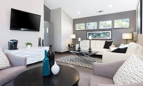 spacious living room at skyline heights apartments