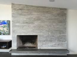 concrete board form veneer tile fireplace floating concrete hearth modern living room