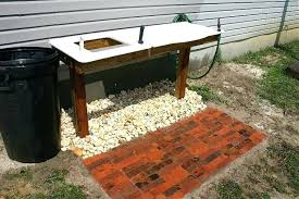 outdoor sink table image of outdoor garden sink station outdoor sink table diy