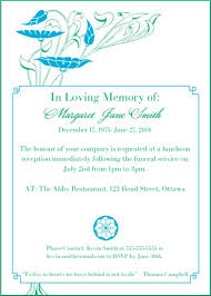 Funeral Invitation Template Enchanting 48 Best Funeral Reception Invitations In 48 Funeral Pinterest
