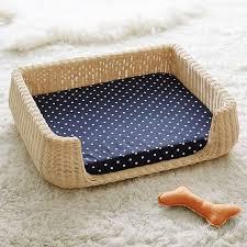 wicker dog bed. Modren Bed Northfield Canvas Wicker Pet Beds Intended Dog Bed