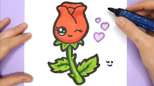 How To Draw A Cute Rose Drawing Easy And Simple Drawing Happy Drawings