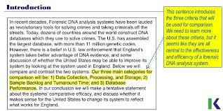 Dna Essay Analyzing Compare And Contrast Essays Dna Profiling