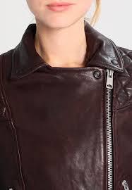 allsaints conroy biker leather jacket oxblood red women clothing