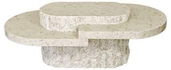 stone coffee table. Mactan Stone Birma Oval Coffee Table N