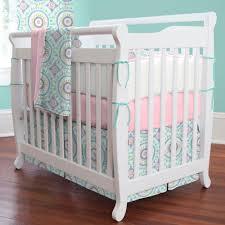 aqua haute baby mini crib bedding