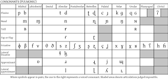 German Consonant Chart Hacking Pronunciation With The Ipa Consonants Language News