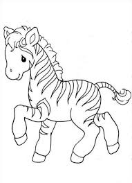Small Picture Coloring Pages Zebra Coloring Pages Without Stripes