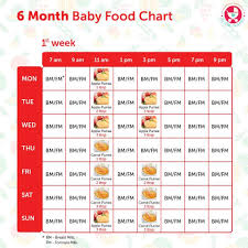 6 Month Diet Chart 6 Months Food Chart For Indian Babies 6 Month Baby Food